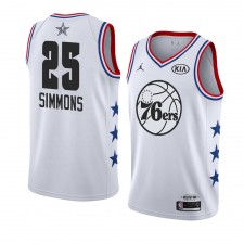 Philadelphia 76ers ^ 25 Blanc Ben Simmons All-Star Game 2019 terminé Swingman Jersey Hommes