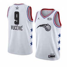 Maillot Orlando Magic ^ 9 Blanc Nikola Vucevic 2019 All-Star Game terminé Swingman Homme