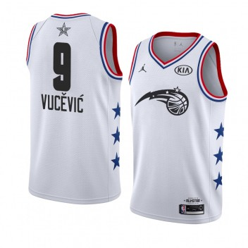 Maillot Orlando Magic # 9 Blanc Nikola Vucevic 2019 All-Star Game terminé Swingman Homme