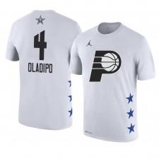 Pacers d'Indiana ^ 4 Victor Oladipo Le nom et le numéro du match des étoiles 2019 T-shirt blanc