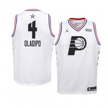 Indiana Pacers # 4 Blanc Victor Oladipo All-Star Game Swingman Maillot 2019