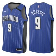 Maillot commémoratif Swingman bleu commémoratif Icon du Patch Magic pour Orlando Magic ^ 9 Nikola Vucevic pour hommes