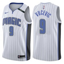 Maillot Swingman Swingman commémoratif blanc pour hommes Orlando Magic ^ 9 Nikola Vucevic HDV Patch Association