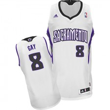 NBA Rudy Gay Swingman Men's White Jersey - Adidas Sacramento Kings &8 Home