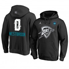 Oklahoma City Thunder ^ 0 Sweat à capuche All-Star 2019 de Russell Westbrook Black pour hommes
