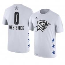 Oklahoma City Thunder ^ 0 Russell Westbrook Le nom et le numéro du match des étoiles 2019 T-shirt blanc