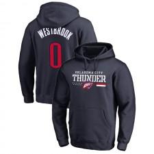 Oklahoma City Thunder Russell Westbrook ^ 0 Cerceaux pour les troupes Sweat à capuche bleu marine