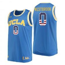 NCAA UCLA Brins ^ 0 Russell Westbrook Drapeau des États-Unis Drapeau bleu authentique de basket-ball universitaire