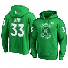 Raptors de Toronto ^ 33 Marc Gasol Pull pour hommes vert Sweat à capuche