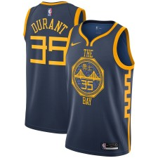 Hommes Golden State Warriors Kevin durant Nike Navy City édition Swingman Maillot