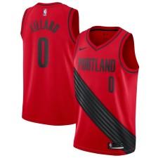 Portland Trail Blazers hommes Damian Lillard Nike rouge swingman Maillot déclaration édition
