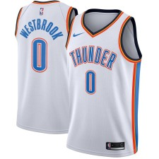 Hommes Oklahoma City Thunder Russell Westbrook Nike Blanc swingman Maillot-Association édition