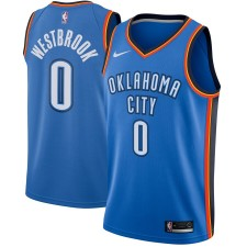 Hommes Oklahoma City Thunder Russell Westbrook Nike bleu swingman Maillot-Icon édition
