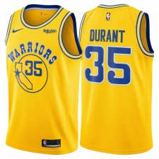 Golden State Warriors Nike Dri-FIT hommes Kevin durant &35 swingman bois franc classique Maillot-or