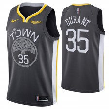 Golden State Warriors Nike Dri-FIT homme'the Town'Kevin durant &35 swingman Maillot-gris