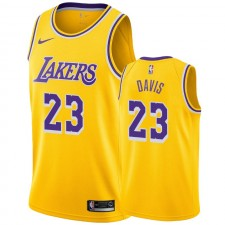 Anthony Davis Maillot Homme & 23 2019-20 Icon des Los Angeles Lakers - Or