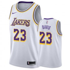 Anthony Davis Maillots Hommes & 23 La 201 201-20 de Los Angeles Lakers - Blanc