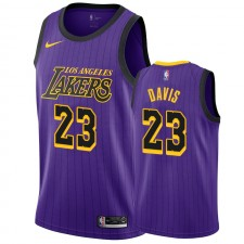 Anthony Davis Los Angeles Lakers &23 2019-20 City Maillot Hommes - Purple