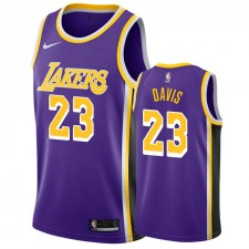 Anthony Davis Los Angeles Lakers &23 2019-20 Déclaration Maillot Hommes - Purple