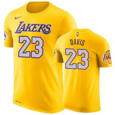 Anthony Davis Los Angeles Lakers Icône T-Shirt Homme - Or