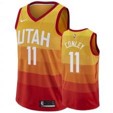 Mike Conley Utah Jazz &11 2019-20 City Maillot Hommes - Orange