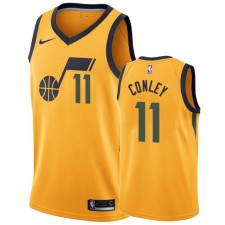 Mike Conley Utah Jazz &11 2019-20 Déclaration Maillot Homme - Or