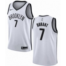 Maillot Brooklyn Nets Kevin Durant & 7 pour Swingman Basketball Blanc