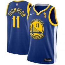 Maillots échangistes bleus Klay Thompson de Golden State Warriors champion de Nike
