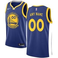 Maillot Nike Golden State Warriors Royal/Gris Swingman Custom - Édition Icône
