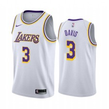Anthony Davis Los Angeles Lakers &3 2019-20 Association Maillot Hommes - Blanc