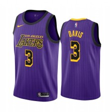 Anthony Davis Los Angeles Lakers &3 2019-20 City Maillot Hommes - Purple