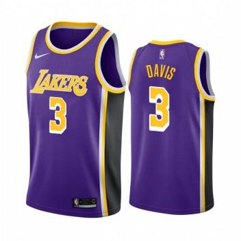 Anthony Davis Los Angeles Lakers #3 2019-20 Déclaration Maillot Hommes - Purple