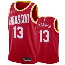 James Harden Houston Rockets &13 2019-20 Hardwood Classics Maillot Hommes - Rouge