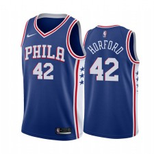 Philadelphia 76ers Al Horford &42 Bleu Icon Maillot Homme