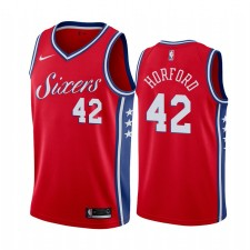 Philadelphia 76ers Al Horford &42 Rouge Déclaration Maillot Hommes