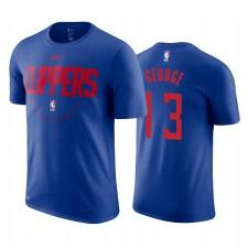 Los Angeles Clippers &13 Paul George Bleu équipe Logo T-chemise