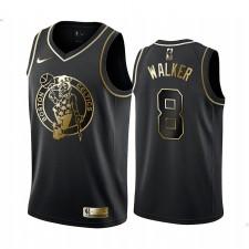 Boston Celtics Kemba Walker Noir Golden Edition Maillot