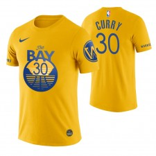 Golden State Warriors Stephen Curry Jaune 2019-20 City Edition T-chemise