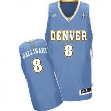 NBA Danilo Gallinari Swingman Men's Light Blue Jersey - Adidas Denver Nuggets &8 Road