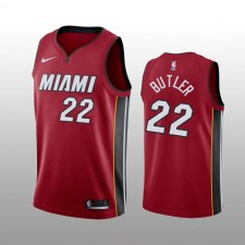Jimmy Butler 19-20 Miami Heat Nike Hommes's rouge Statement Edition Maillot