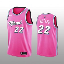 Jimmy Butler 19-20 Miami Heat Nike Homme Pink Earned Edition Maillot