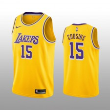DeMarcus Cousins 19-20 Los Angeles Lakers Nike Homme Icône Jaune Edition Maillot