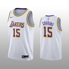 DeMarcus Cousins 19-20 Los Angeles Lakers Nike Homme Association Blanche édition Maillot