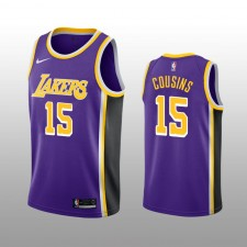 DeMarcus Cousins 19-20 Los Angeles Lakers Nike Hommes Purple Statement édition Maillot