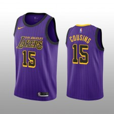DeMarcus Cousins 19-20 Los Angeles Lakers Nike Hommes Purple City Edition Maillot