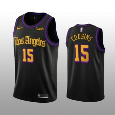 DeMarcus Cousins 19-20 Los Angeles Lakers Nike Hommes Noir City Edition Maillot
