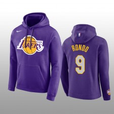 Sweat à capuche & 9 pour hommes, logo des Los Angeles Lakers Club Team - Logo violet - Rajon Rondo
