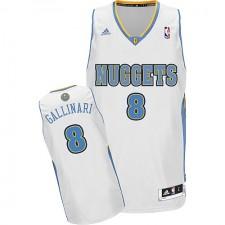 NBA Danilo Gallinari Swingman Men's White Jersey - Adidas Denver Nuggets &8 Home