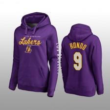 Sweat à capuche haut de gamme pour femmes de Los Angeles Lakers & 9 Rajon Rondo
