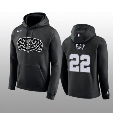 Sweat à capuche à logo Rudy Gay Noir Club Team & 22 des San Antonio Spurs pour Homme